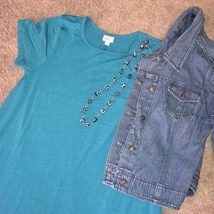 Lularoe teal Carly dress, size xl, 16/18